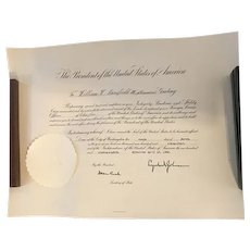 President Lyndon B. Johnson Signed Appointment Document