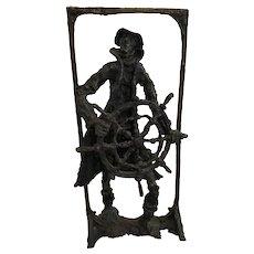 Phillip Ratner (Isreali / American) Sailor / Ship's Captain Bronze Sculpture