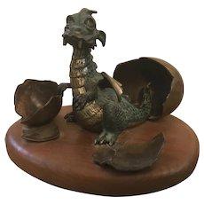 """Wah Chang (2017-2003) """"Baby Dragon III"""" Bronze Sculpture"""