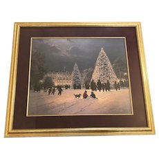 "G. Harvey (1933-2017) ""Light Unto the World"" White House Christmas Lithograph Print"