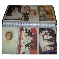 Vintage Postcard Album of the Royal Wedding 1981