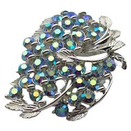 Vintage Blue Brooch signed BSK
