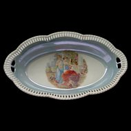 Vintage Schumann Bavaria Reticulated Oval Bowl