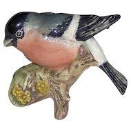 Vintage Beswick Bullfinch bird figurine