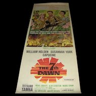 Vintage Movie Poster The 7th Dawn with William Holden