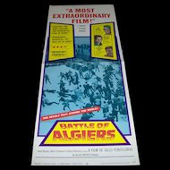 Vintage Movie Poster Battle of Algiers