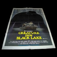 Vintage Movie Poster Creature From Black Lake