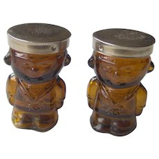 Vintage Glass Sailor Boy salt and pepper shakers - Red Tag Sale Item