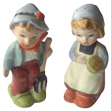 Vintage Boy and Girl salt and pepper shakers