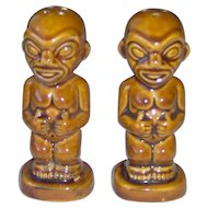 Vintage Kon Tiki salt and pepper shakers