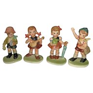 Vintage Set of Four Children Figurines