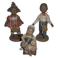 Vintage Sarah's Attic Black American Children Figurines