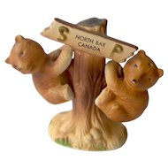 Vintage Bears on a Tree salt and pepper shakers