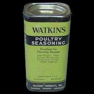 Vintage Watkins Poultry Seasoning Tin