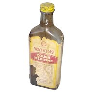 Vintage Watkins Cough Medicine bottle