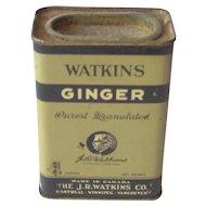 Vintage Watkins Ginger Tin