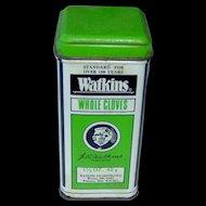 Vintage Watkins Whole Cloves Tin