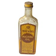 Vintage Watkins Machine Oil Bottle