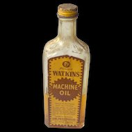 Vintage Watkins Machine Oil Bottle