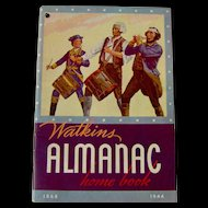 Vintage 1944 Watkins Almanac Home Book