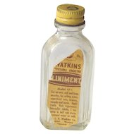 Vintage Watkins Liniment Sample Bottle