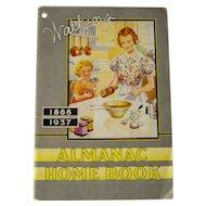 Vintage 1937 Watkins Almanac Home Book