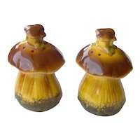 Vintage Mushroom Salt and Pepper Shakers