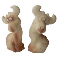 Vintage Moose salt and pepper shakers