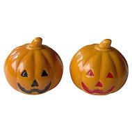 Thanksgiving or Halloween Pumpkin salt and pepper shakers