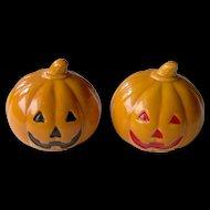 Thanksgiving or Halloween Pumpkin salt and pepper shakers