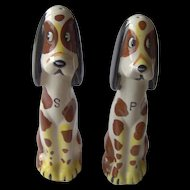 Vintage Tall Dog salt and pepper shakers