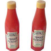 Vintage Heinz Tomato Ketchup advertising salt and pepper shaker set