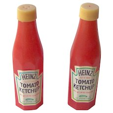 Vintage Heinz Tomato Ketchup advertising salt and pepper shaker set