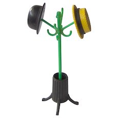 Vintage Hat Stand with Hats Salt and Pepper Shakers