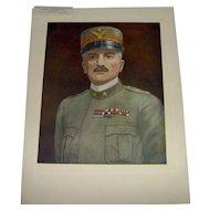 Vintage 1918 Prints of The Four Famous Generals WWI