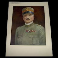 Vintage 1918 Prints of The Four Famous Generals WWI