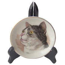 Vintage Cat Plate by Wood and Sons