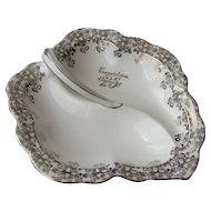 Vintage Royal Albert Divided Leaf Dish