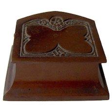 Vintage Bronze Double Stamp Box