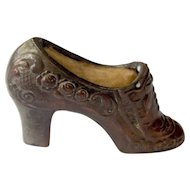 Vintage Occupied Japan Pin Cushion Shoe
