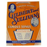 Vintage Sheet Music Book