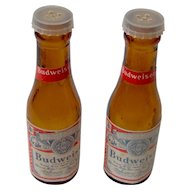 Vintage Budweiser Salt and Pepper Shakers