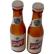 Vintage Schlitz Salt and Pepper Shakers