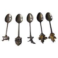 Vintage Silver Plated Souvenir Spoons