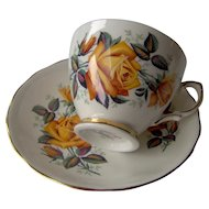 Vintage Cup and Saucer by Colclough England