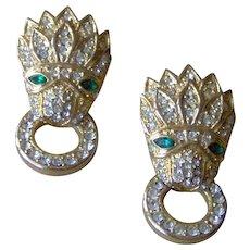 Vintage Sarah Cov door knocker earrings
