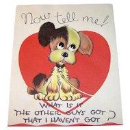 Vintage 1930 Valentine Now Tell Me