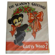Vintage 1930 Christmas Card from Guess Who