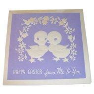 Vintage 1930 Easter Card