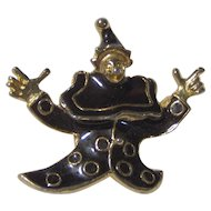 Vintage Clown Jester Brooch